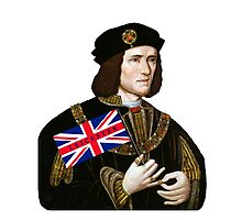 King Richard III Supports Leicester Football (Soccer) Photographic Print