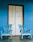 A pair of Rocking chairs, Vinales, Cuba by David Carton