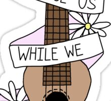 Song Lyrics Ukulele Sticker
