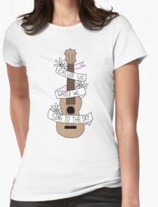Song Lyrics Ukulele Womens Fitted T-Shirt