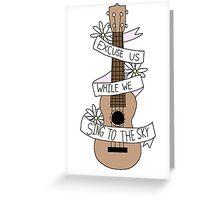 Song Lyrics Ukulele Greeting Card