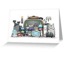 videogames console arcade consolas videoconsolas Greeting Card