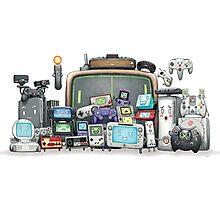 videogames console arcade consolas videoconsolas Photographic Print