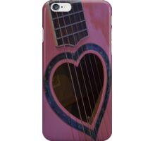 Pink Heart Guitar iPhone Case/Skin