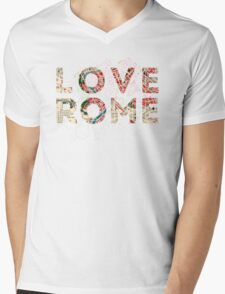 Where in Rome Mens V-Neck T-Shirt
