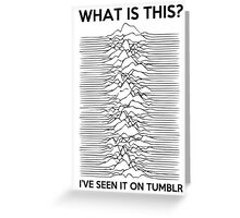 Joy division v2 Greeting Card
