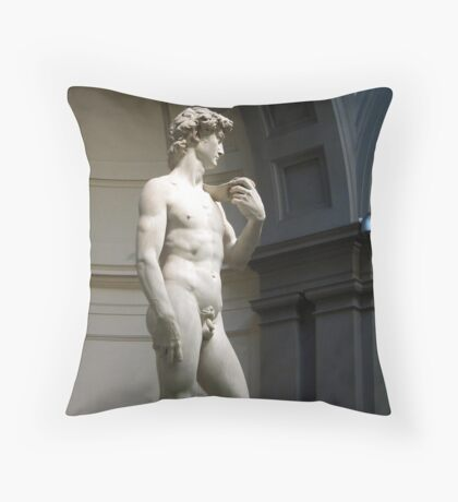 David by Michelangelo Throw Pillow