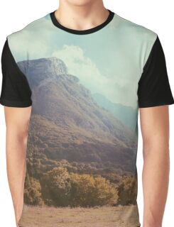Mountains in the background V Graphic T-Shirt