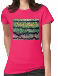 Humid Meadow with Wildflowers Womens Fitted T-Shirt