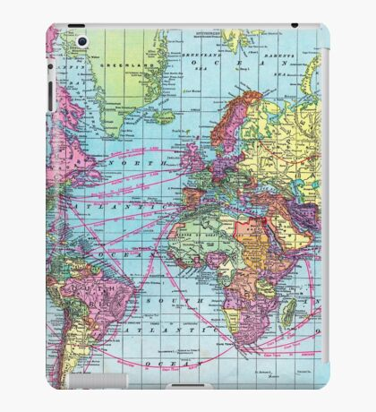 Around the world.. Travel Free! iPad Case/Skin