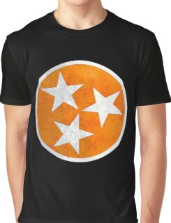 Tennessee Flag in Orange Graphic T-Shirt