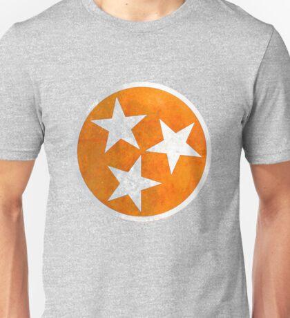 Tennessee Flag in Orange Unisex T-Shirt