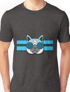 Hipster Cat Turquoise Animal Print Unisex T-Shirt