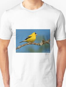 American Goldfinch Perched in a Tree Unisex T-Shirt