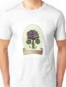 Envy, Purple and Green Wilting Rose, Tattoo Design Unisex T-Shirt