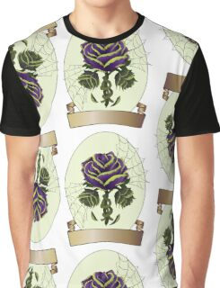 Envy, Purple and Green Wilting Rose, Tattoo Design Graphic T-Shirt