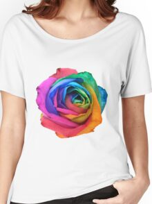 Rainbow Rose 01 Women's Relaxed Fit T-Shirt