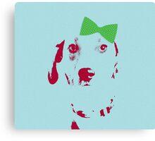 Dog Love - Carmella Canvas Print