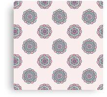 beautiful  pastel floral pattern Canvas Print