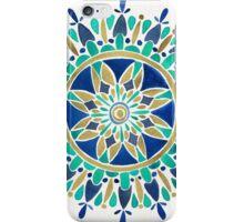 Mandala – Gold & Turquoise iPhone Case/Skin