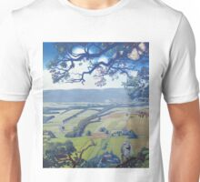 View of the Bystrzyckie Mountains from the Hat Rock with the White Wagtail Unisex T-Shirt