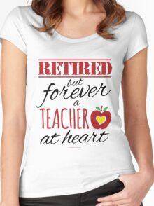 Retired Teacher Women's Fitted Scoop T-Shirt