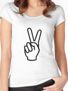 PEACE VICTORY yeah Women's Fitted Scoop T-Shirt