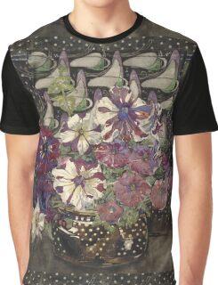 Vintage blue art - Charles Rennie Mackintosh  - Petunias Graphic T-Shirt