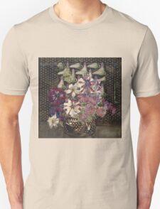Vintage blue art - Charles Rennie Mackintosh  - Petunias Unisex T-Shirt