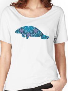 Blue Bohemian Manatee Women's Relaxed Fit T-Shirt