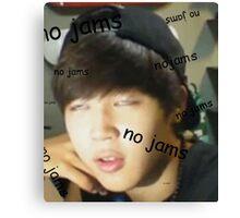 Jimin - no jams Canvas Print