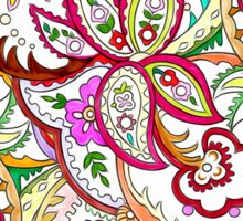 Bright Paisley Flowers Sticker