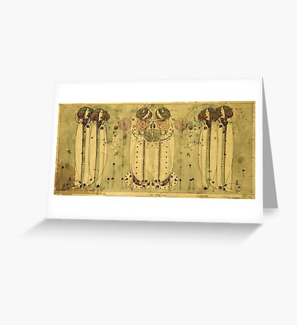 Vintage famous art - Charles Rennie Mackintosh  - The Wassail Greeting Card
