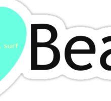 I Love Beach Sticker