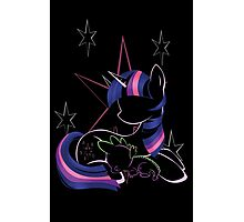 Twilight Sparkle Contour Photographic Print