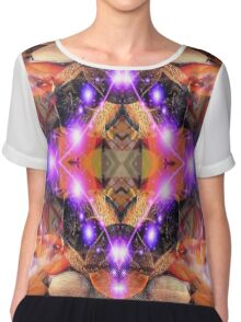 Alien Abstract  Chiffon Top