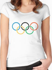 Olympics Logo  Women's Fitted Scoop T-Shirt