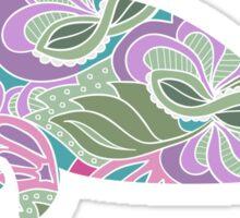 Manatee with Floral Garden Pattern Sticker