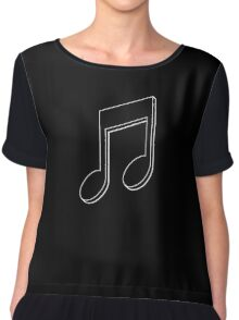 Music Note (Black) Chiffon Top