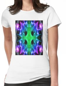 Alien Snowflake Womens Fitted T-Shirt