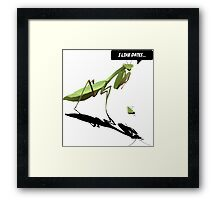Dating Mantis Framed Print