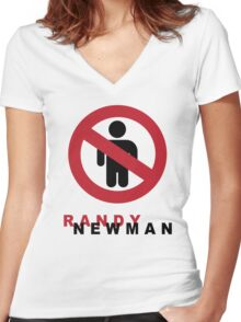 Randy Newman-Short People Women's Fitted V-Neck T-Shirt