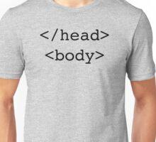 </head> <body> HTML Unisex T-Shirt