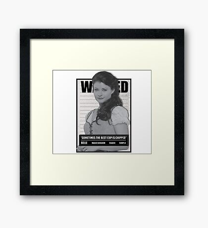 Wanted Belle Framed Print