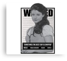 Wanted Belle Canvas Print