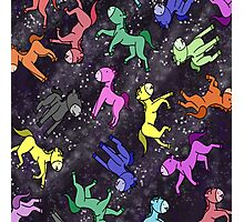 Horses' in Space Photographic Print