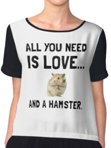 Love And A Hamster Chiffon Top