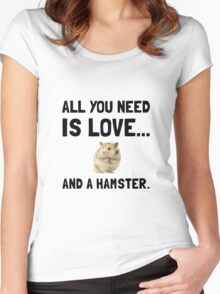 Love And A Hamster Women's Fitted Scoop T-Shirt