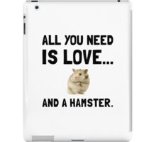 Love And A Hamster iPad Case/Skin
