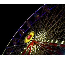 Ferris Wheel at Night Photographic Print
